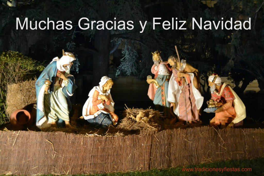 Muchas gracias y Feliz Navidad