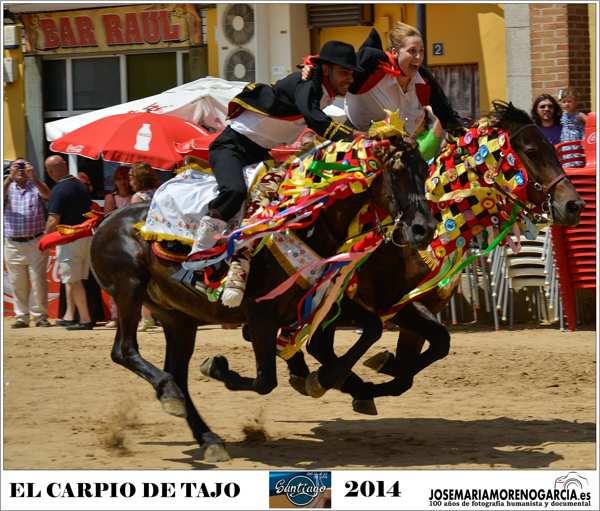 carreras de caballos enjaezados de El Carpio de Tajo -tradición - imagen1